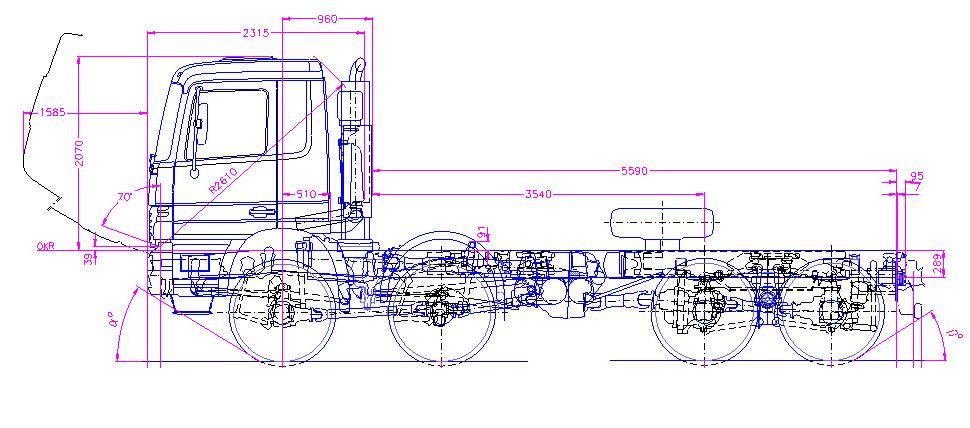 奔驰卡车图纸dwg