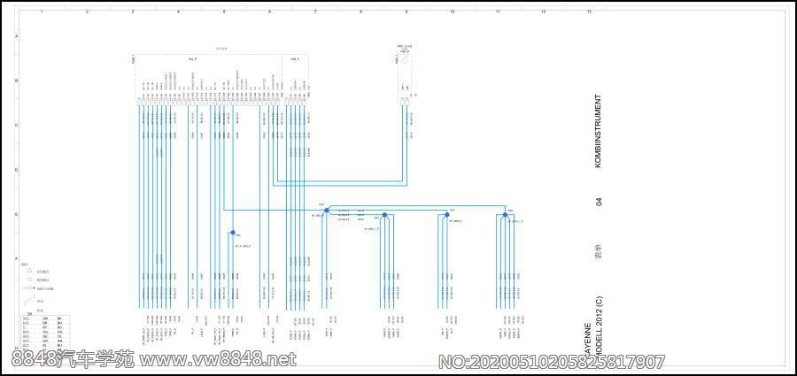 2012保时捷卡宴全车电路图( 4 ) 组合仪表
